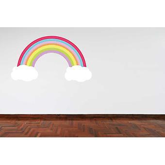 Pełny kolor pastelowy kolor tęcza i Naklejki ścienne chmury