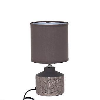 Lampe bord brun keramisk 25 cm