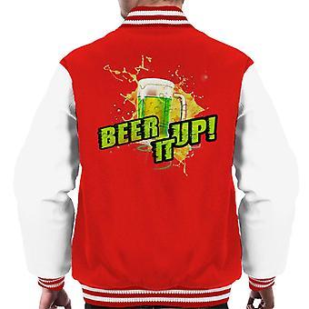 Beer It Up Men's Varsity Jacket