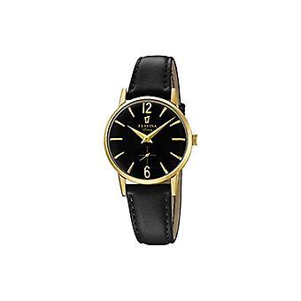 フェスティナ時計アナログ クオーツ レディース腕時計レザー F20255-3