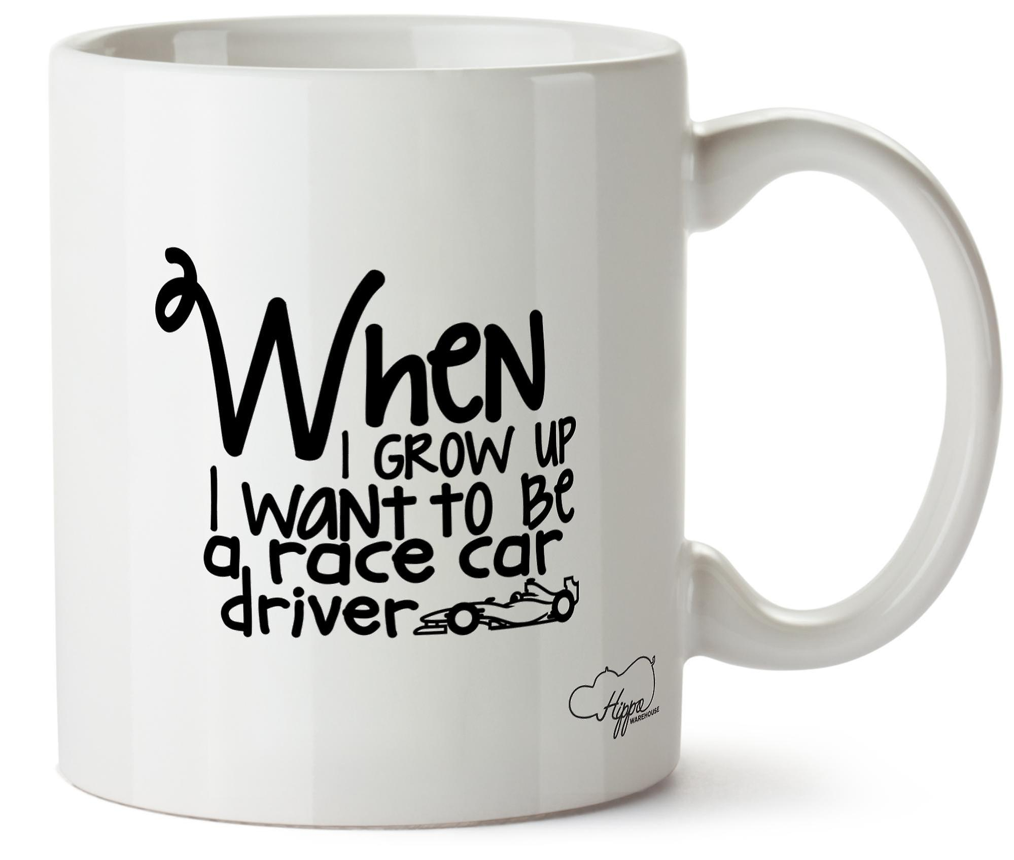 Hippowarehouse When I Grow Up I Want To Be A Car Driver Printed Mug Cup Ceramic 10oz