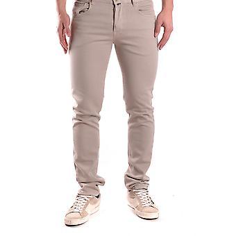 Pt05 Ezbc084017 Men's Beige Cotton Jeans