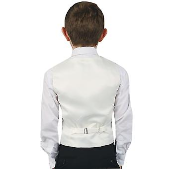 Dobell Boys avorio Paisley gilet vestibilità regolare matrimonio