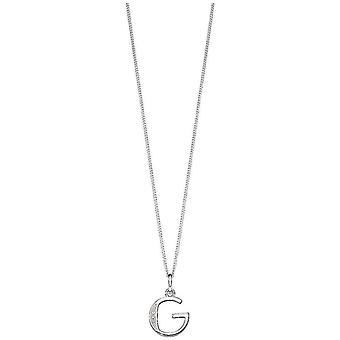 Inizii Art Deco G iniziale ciondolo - argento