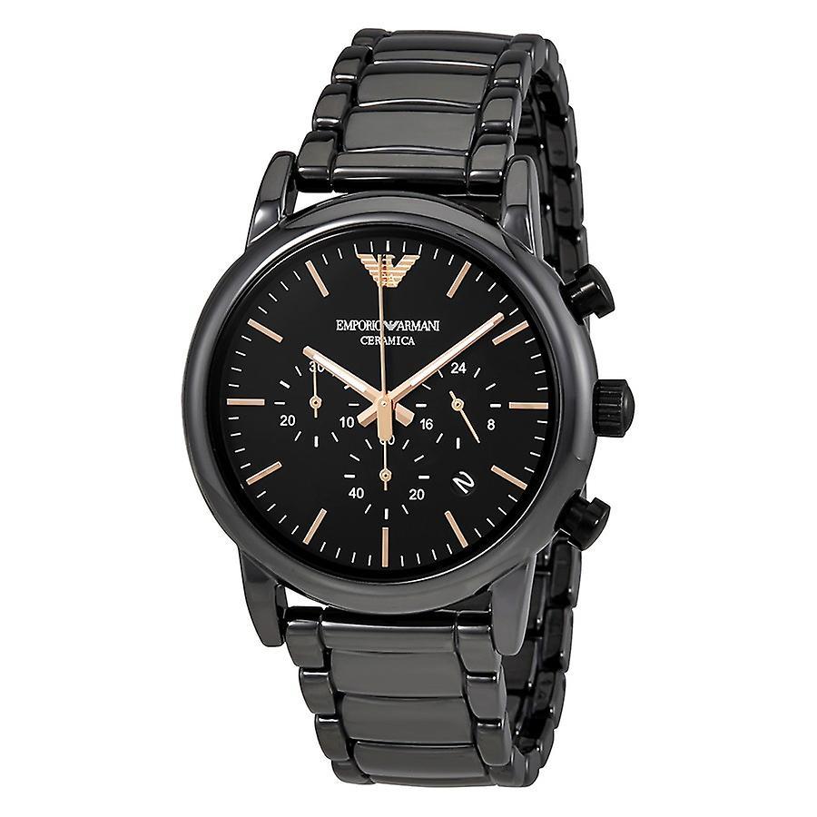 Emporio Armani Ar1509 Luigi Ceramic Black Dial Men's Watch