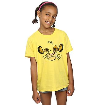 Disney Girls The Lion King Simba Face T-Shirt