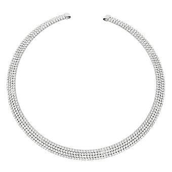 Ewige Sammlung St Tropez Diamante Silberfarbe Halsband Halskette