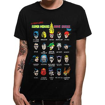 Men's DC Justice League Superhero Issues Black T-Shirt