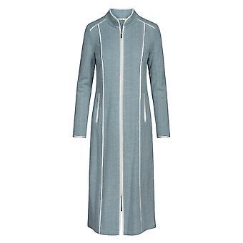 Feraud 3191065-11752 Women's High Class Deep Sea Blue Cotton Dressing Gown Loungewear Robe