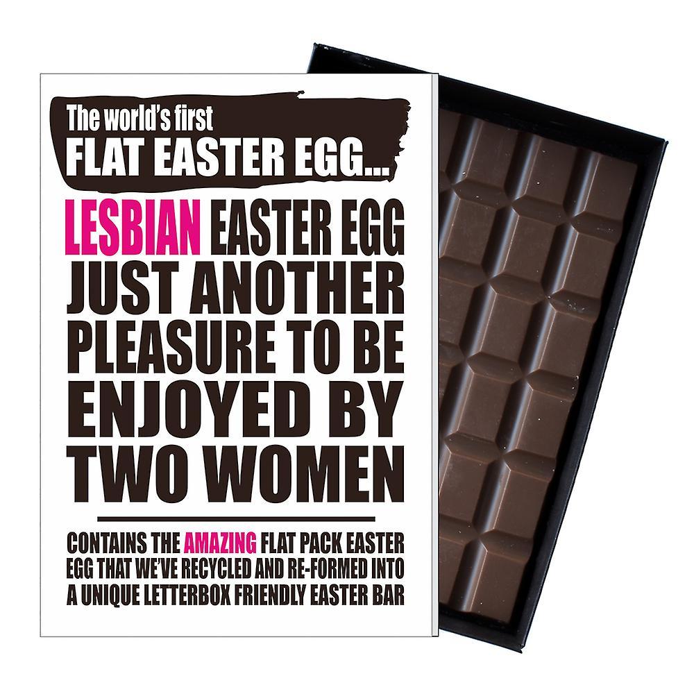 Funny Flat Easter Egg Chocolate Bar Greeting Card Gift LGBT Lesbian Gay Queer UK EIYF129