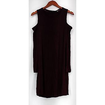 Någon klänning Loungewear borstad hacci Cold Shoulder Red A297424