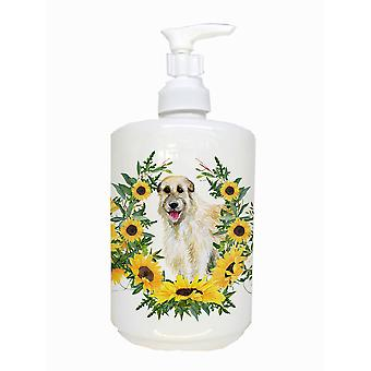 Carolines Treasures  CK2862SOAP Irish Wolfhound Ceramic Soap Dispenser