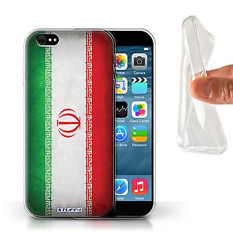 STUFF4 Gel TPU Case/Cover for Apple iPhone 6S/Iran/Iranian/Flags