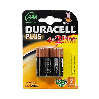 New Duracell AAA Batteries - 2 Pack Black