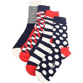 Happy Socks Big Dot Socks Gift Pack - Cream/Red/Blue