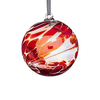 Sienna Glass 10cm Birthstone Ball, July Ruby