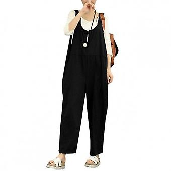 Backless Loose Wide Leg  Jumpsuit Plus Size