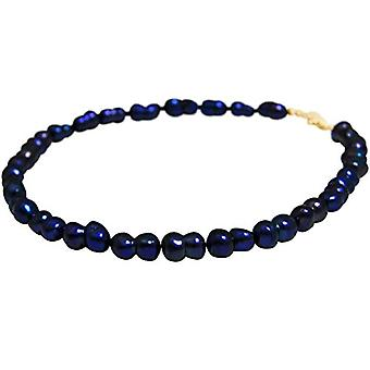 Gemshine Gold-plated Women's Pearl Necklace - CCahb1o
