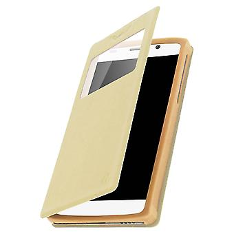 Smartphone Case 5,9'' Card Holder Window Video stand,slide Gold