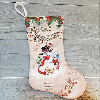 Christmas Stocking Christmas Stocking-sneeuwpop en kinderen
