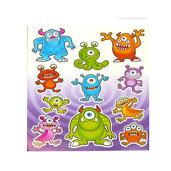 Single Monster Sticker Sheet for Kids Party Bags