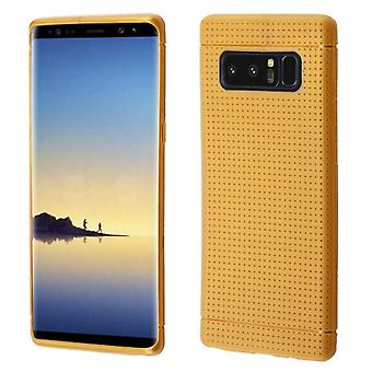 Gold Lattice Points Candy Skin Cover for Galaxy Note 8
