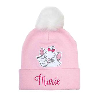 Aristocats Beanie Bobble Hat Marie Face Logo new Official Disney Pink
