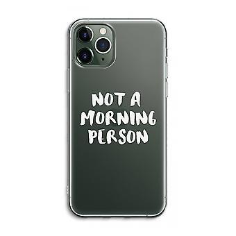 iPhone 11 Pro Max Funda transparente (Suave) - Persona de la mañana