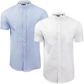 Brave Soul mens Tribune Kortärmad casual Button ner Pocket shirt topp T-shirt