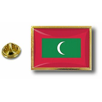 Pins Pin Badge Pin's Metal  Avec Pince Papillon Drapeau Maldives Malais