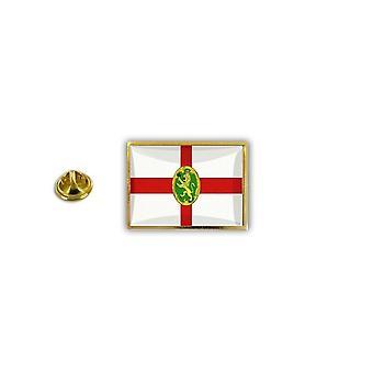 باين الصنوبر دبوس شارة دبوس أبوس؛ s الايبوكسي المعدنية مع فراشة قرصة العلم Aurigny