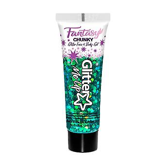 Glitter Me Up Fantasy Chunky Glitter Face & Body Gel Leprechaun Luck 12ml
