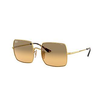 Ray-Ban Square RB1971 9150AC Złoto / Zdjęcie Pomarańczowy Gradient Brązowe okulary przeciwsłoneczne