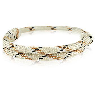 Skipper bracelet surfeur bande nœud maritimes bracelet en nylon beige/brun/noir 6913