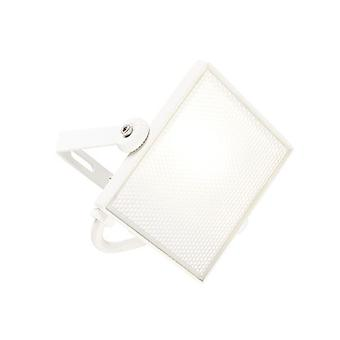 Saxby Lighting Scimitar Integrated LED 1 Light Outdoor Wall Light Textured Matt White, Frosted IP65 73453