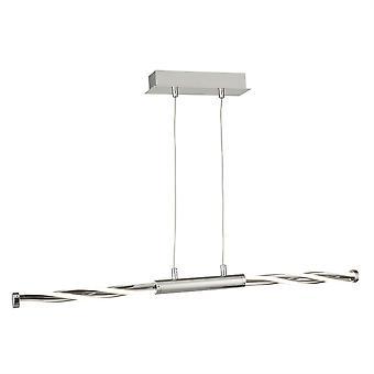 Searchlight Twister Integrated LED 1 Light Semi Flush Soffitto Chiaro Grigio, Cromo, Bianco 7311CC