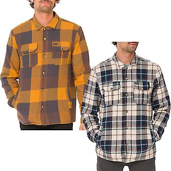 Animal Mens Silverstoe Long Sleeve Button Down Two Pocket Check Shirt Top