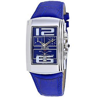 Jovial Men's Classic Blue Dial Watch - 08003-GSLC-03