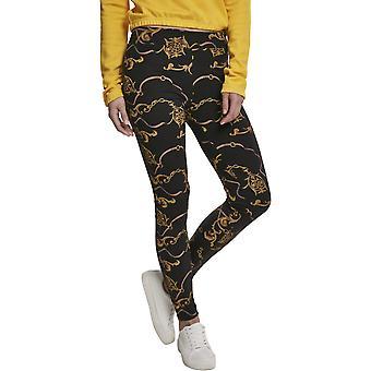 Urban Classics Ladies - Luxury Print Leggings nero