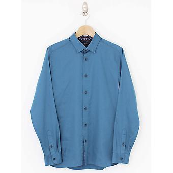 Тед Бейкер Бассин Текстурированная рубашка - синий
