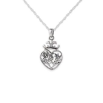 "Scotland Royalty Mary Stuart Queen Of Scots Round Shape Necklace Pendant - Includes A 20"" Silver Chain"