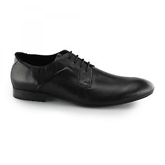 Hudson Lamond Mens couro smart lace up derby sapatos pretos