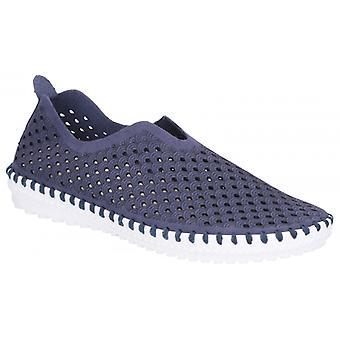 Divaz Onyx dames microvezel slip op schoenen Navy