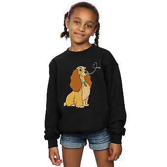 Disney Girls Lady And The Tramp Lady Spaghetti Heart Sweatshirt