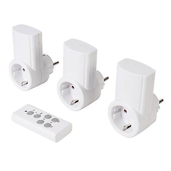 Presa di alimentazione wireless a controllo remoto 230V 3pk - EU 13A 230V