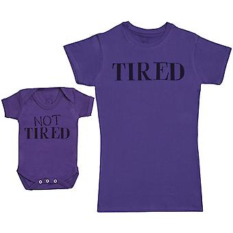 Not Tired & Tired - Baby Gift Set with Baby Body & Mother's T-paita