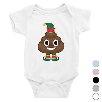 Poop Elf Funny Holiday Baby Bodysuit X-mas Gift