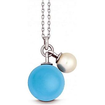 QUINN - Necklace - Silver - Pearl - Chalcedony - Freshwater - 27601927