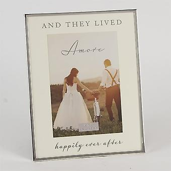 Amore And They Lived Happily Ever After 5 X 7 Wedding Photo Frame