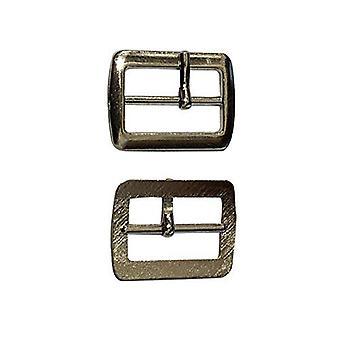 20mm Unisex Silver Shoe Buckle